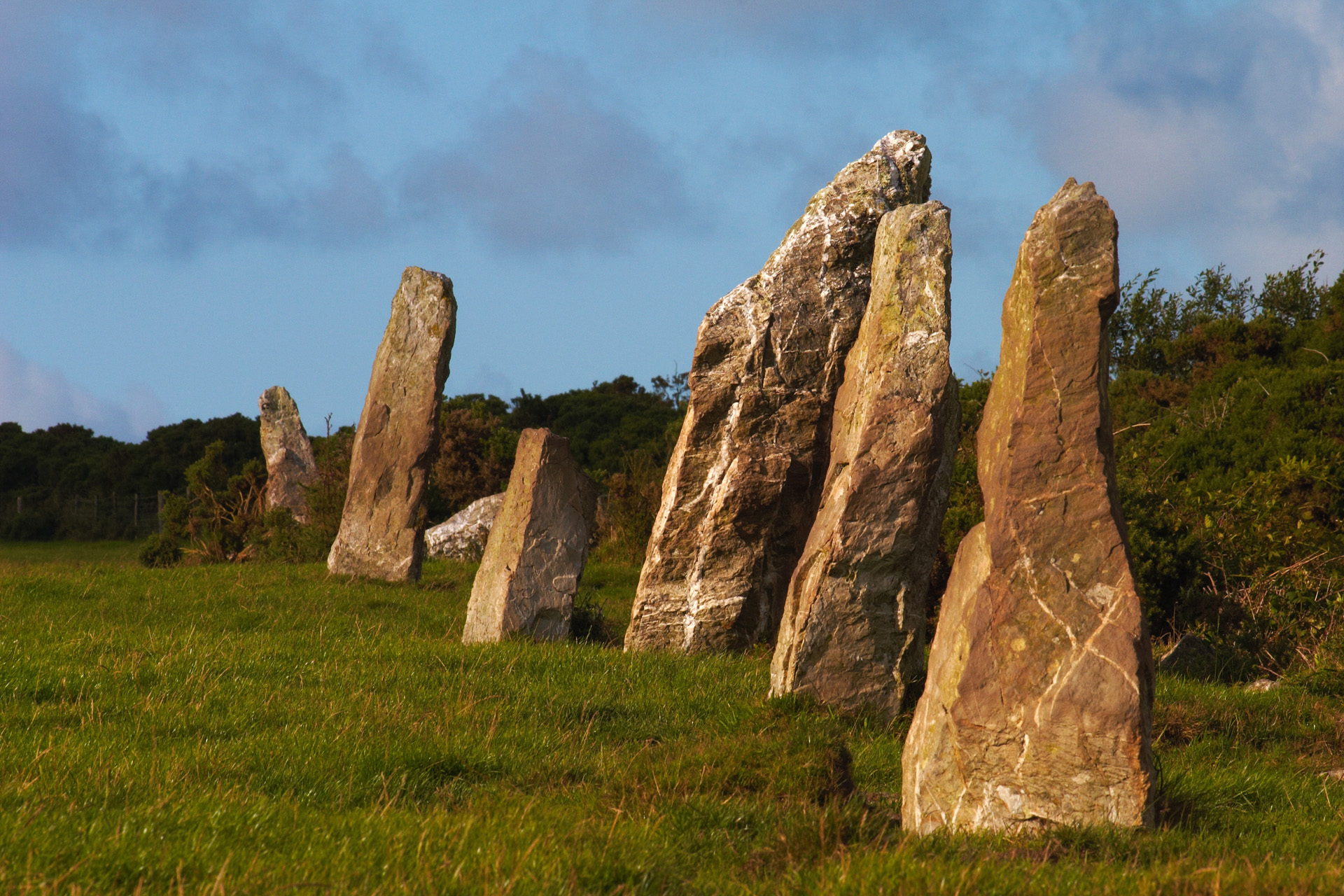 A Row Of Maidens, the Nine Maidens on St Breock Downs