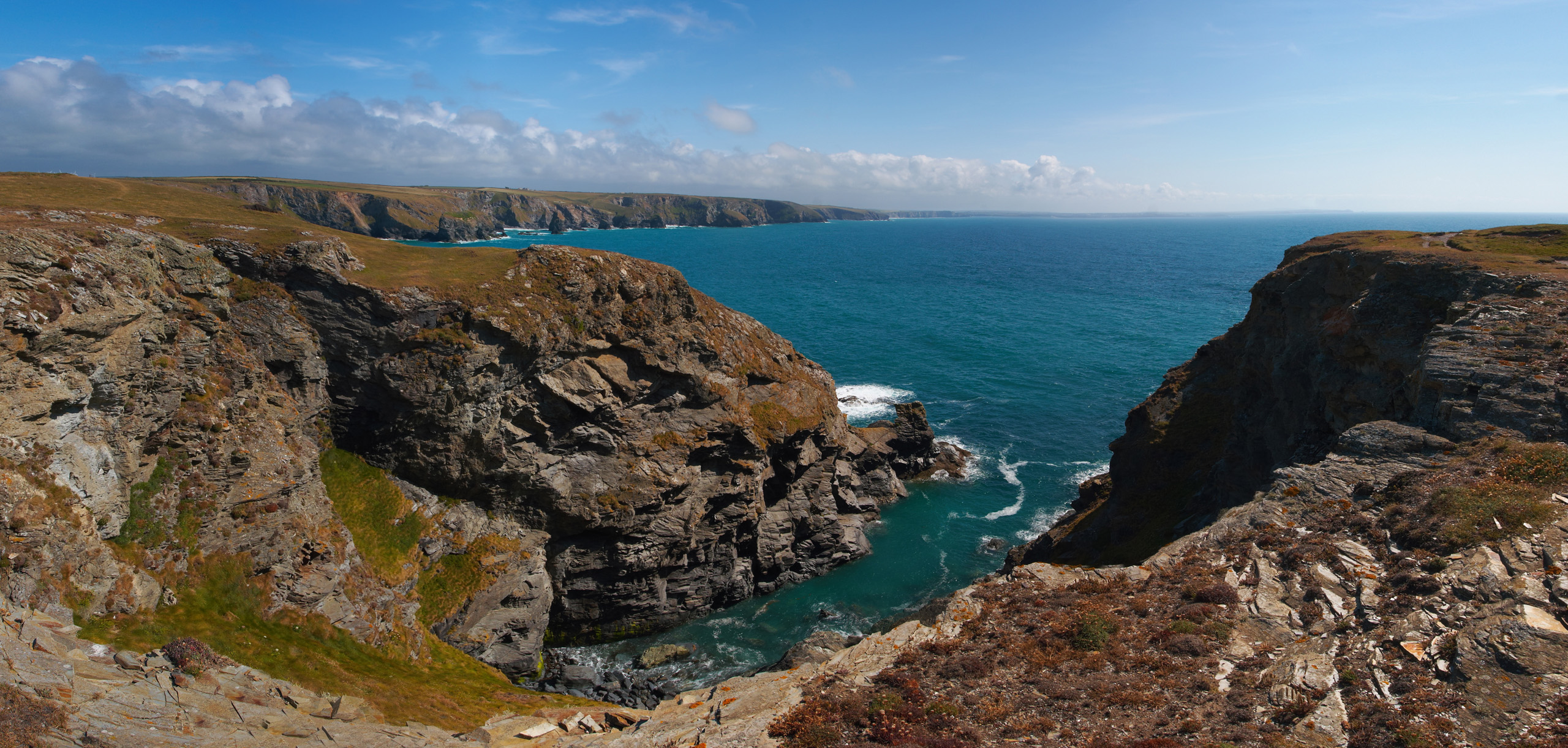 High Cove From Park Head, With Bedruthan Steps Behind