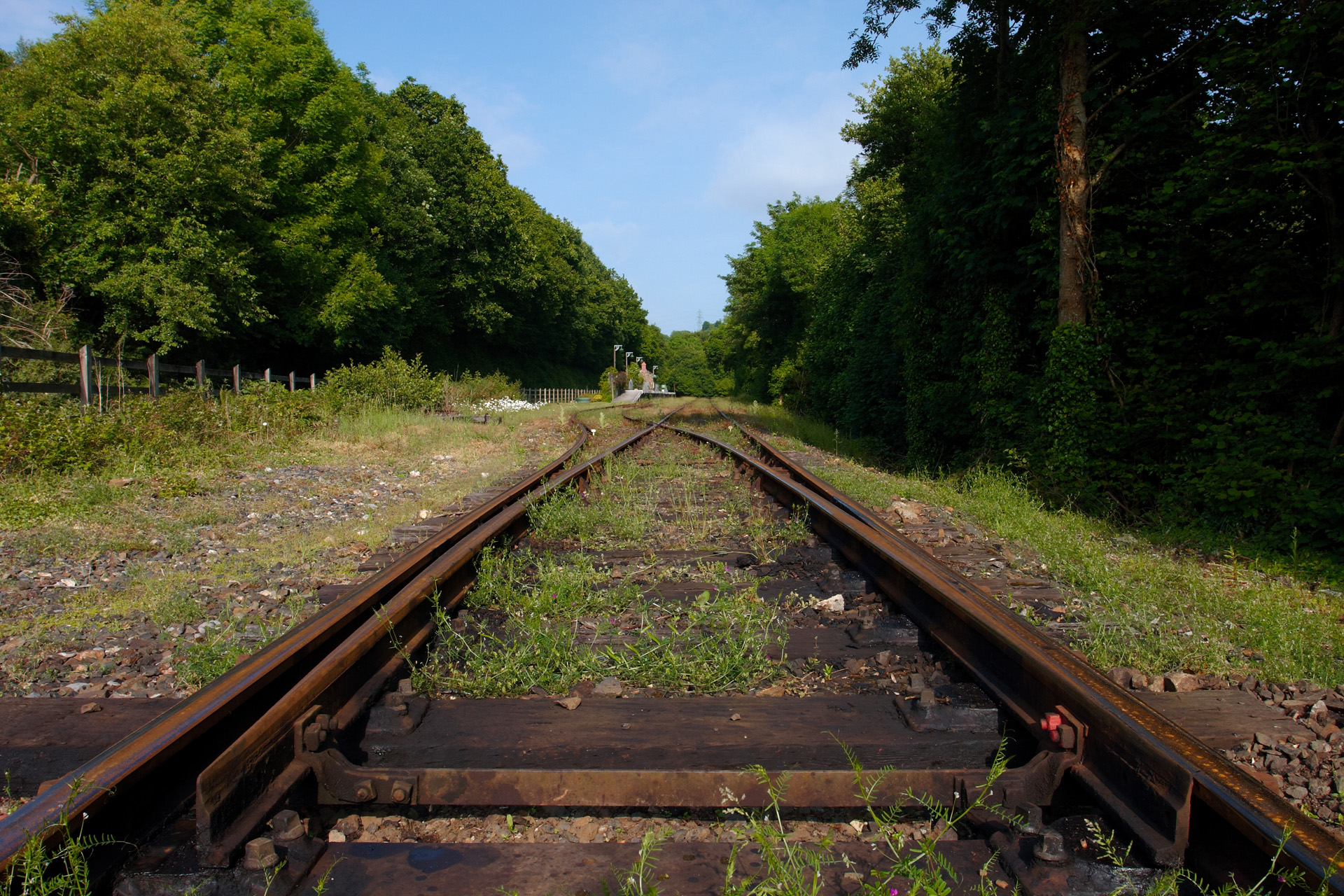 Old railway tracks at Boscarne Junction station
