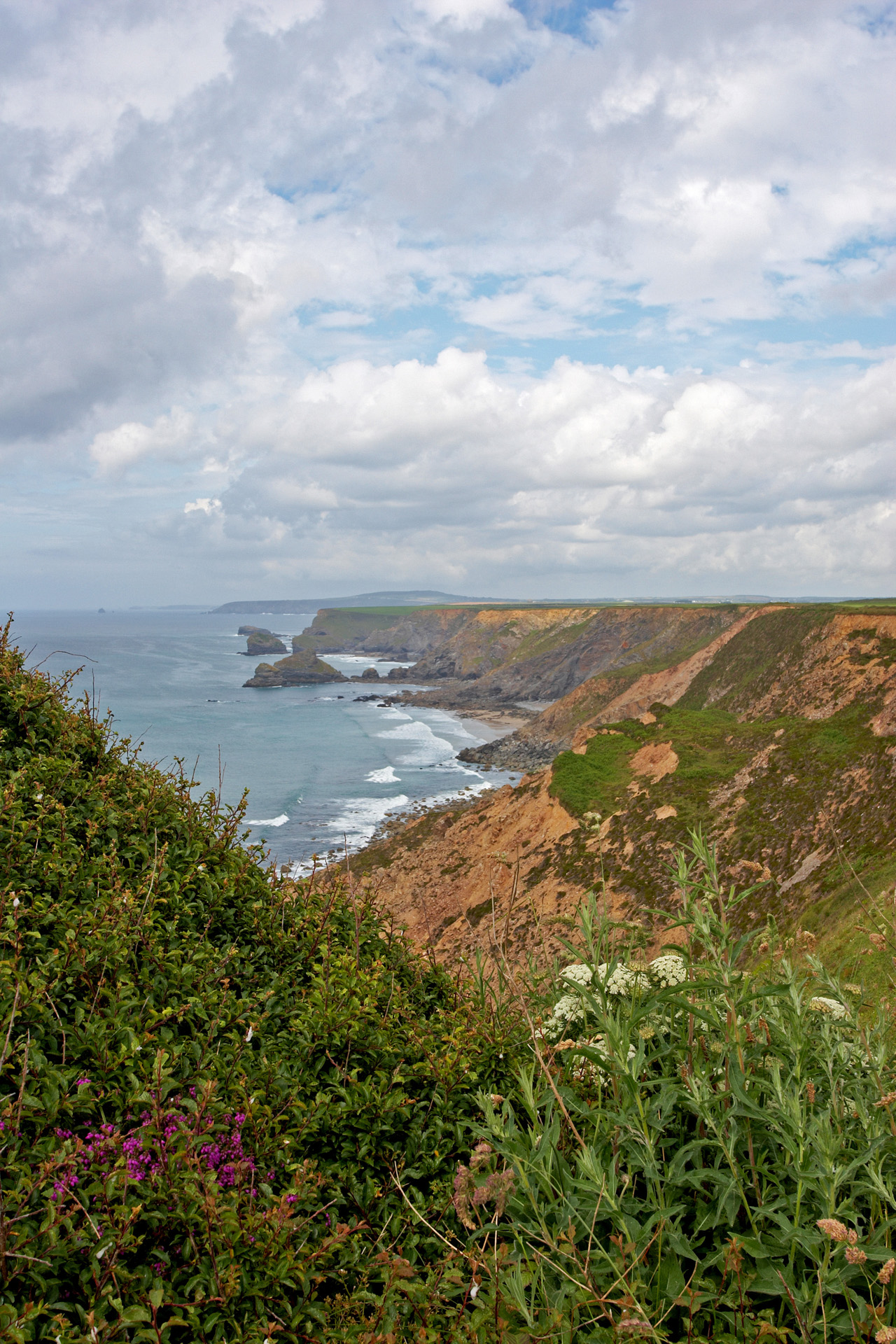 Heritage Coast Cliffs along the Southwest Coastal Path in Cornwa