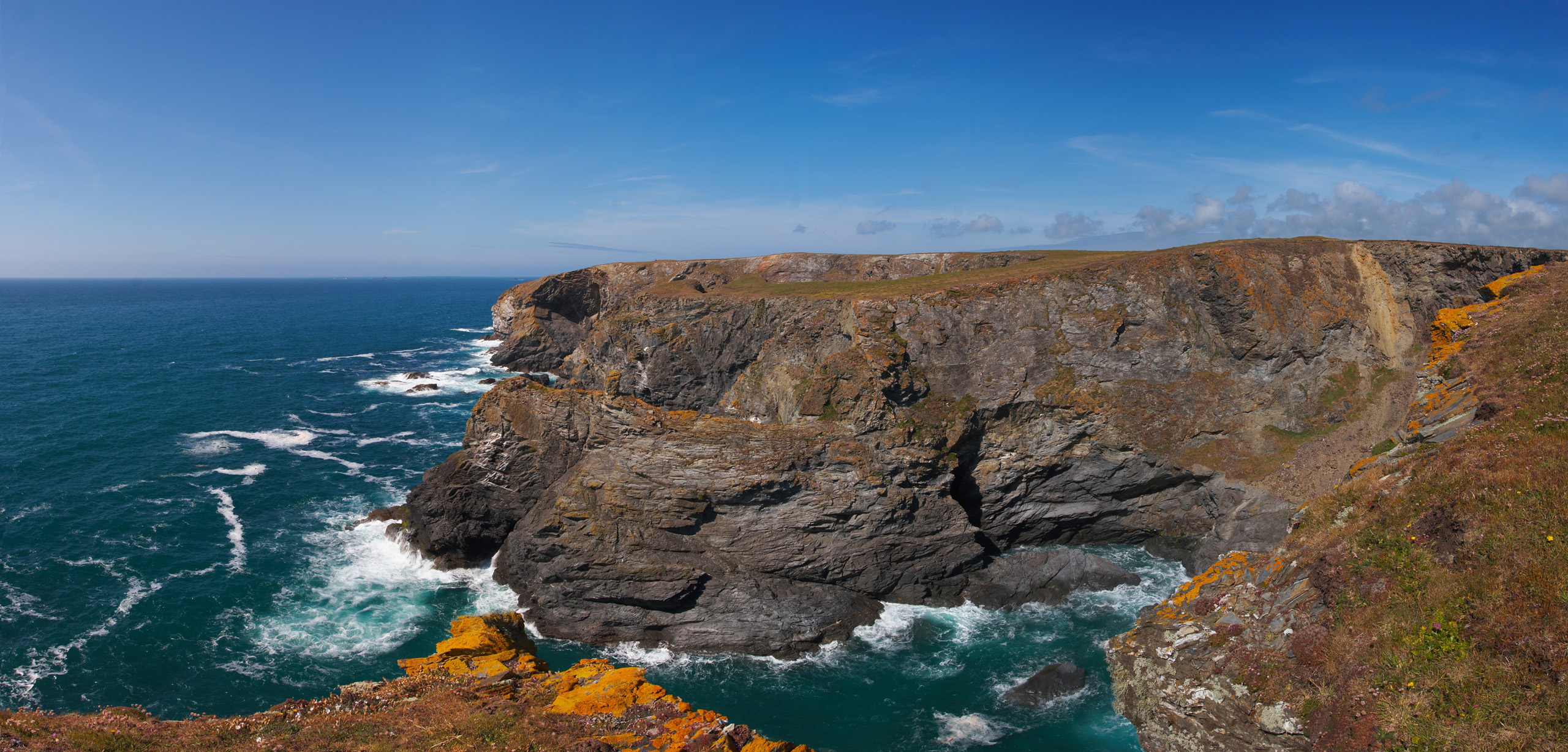 High Cove From Park Head, Near Bedruthan Steps