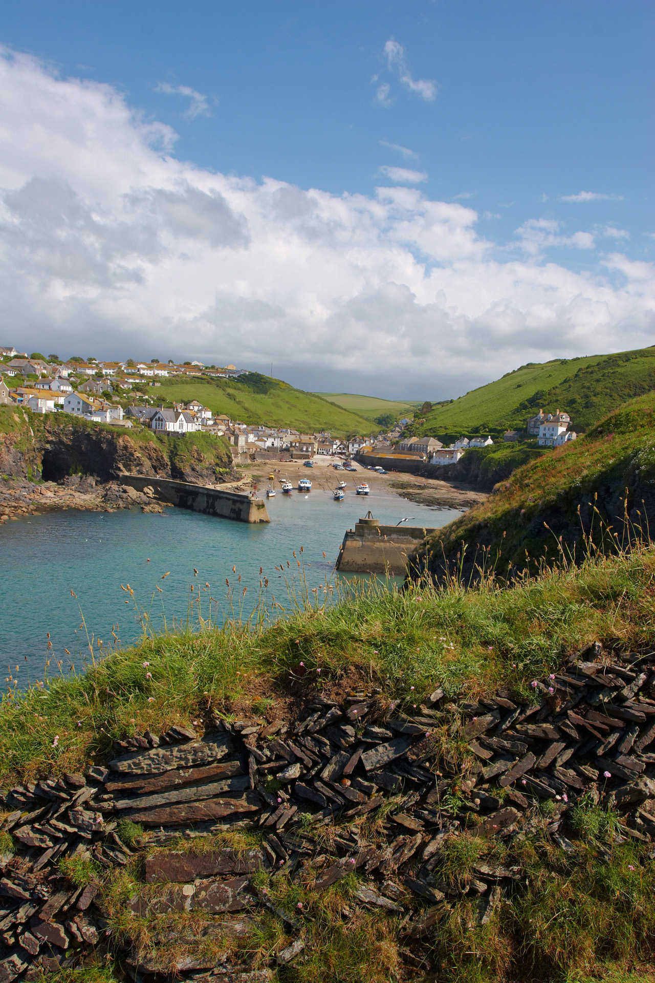 Port Isaac Harbour Walls From The Coastal Path