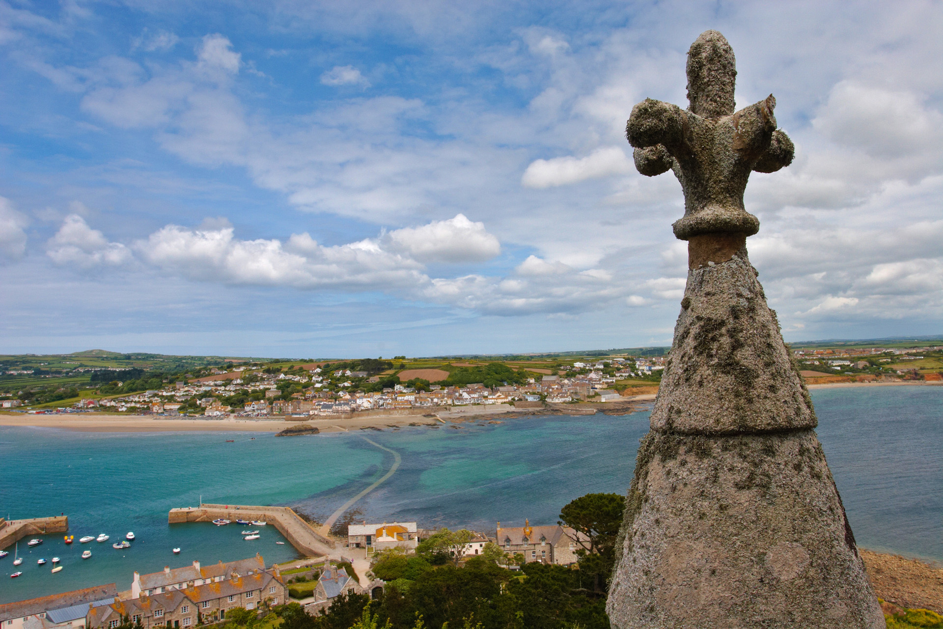 Marazion and Causeway from St Michael's Mount