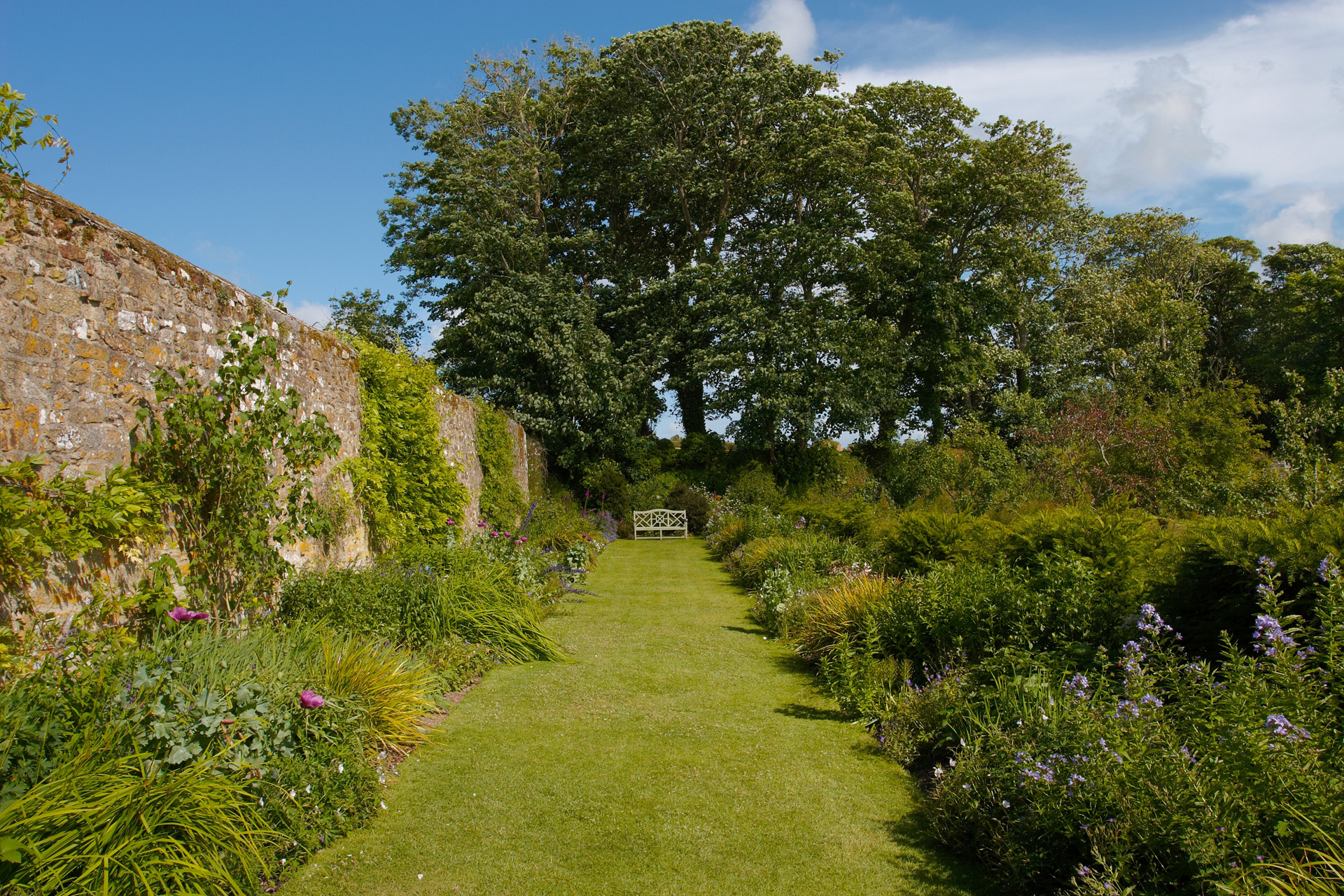 The gardens at Trerice House, Cornwall