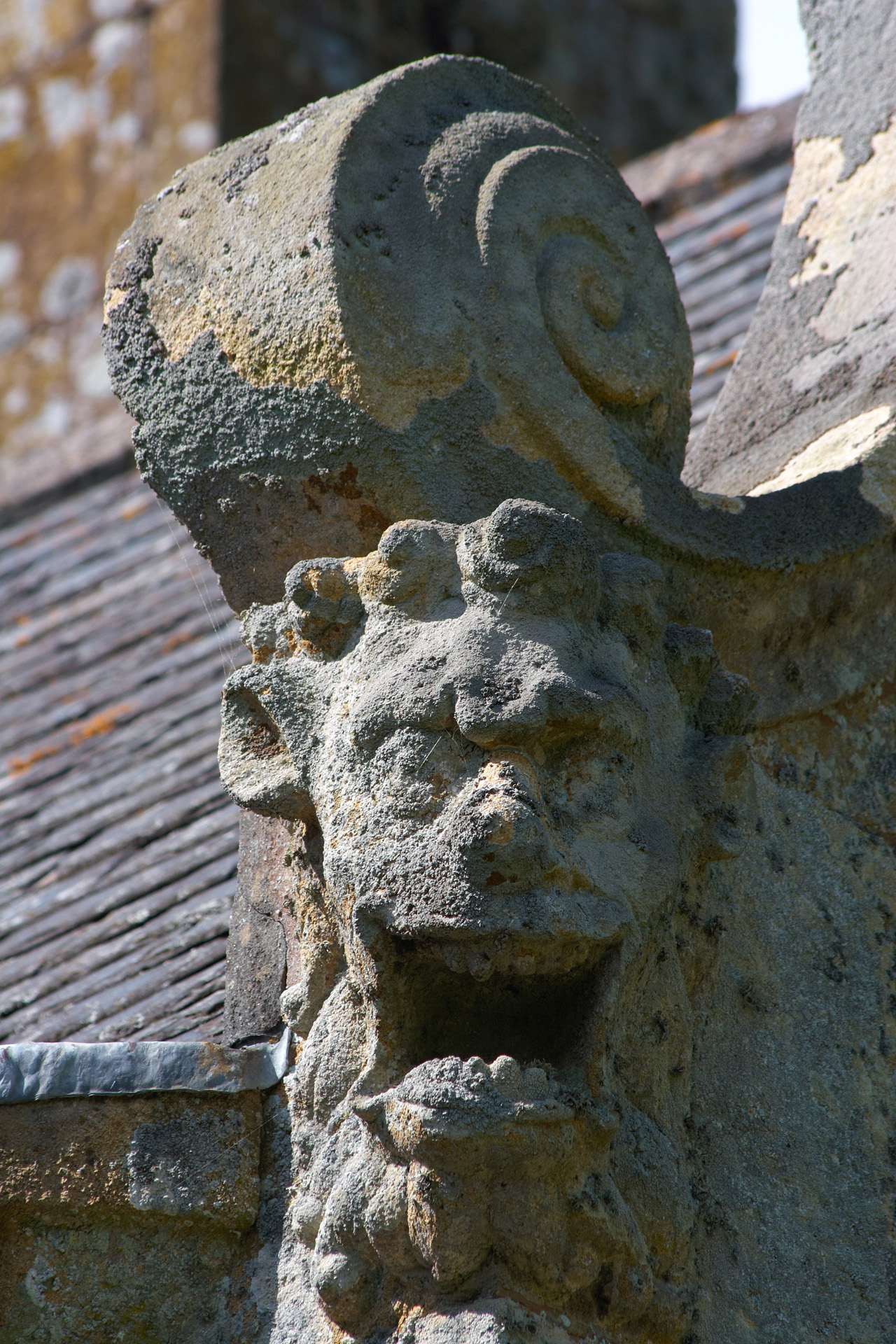 Gargoyle at Trerice House, Cornwall