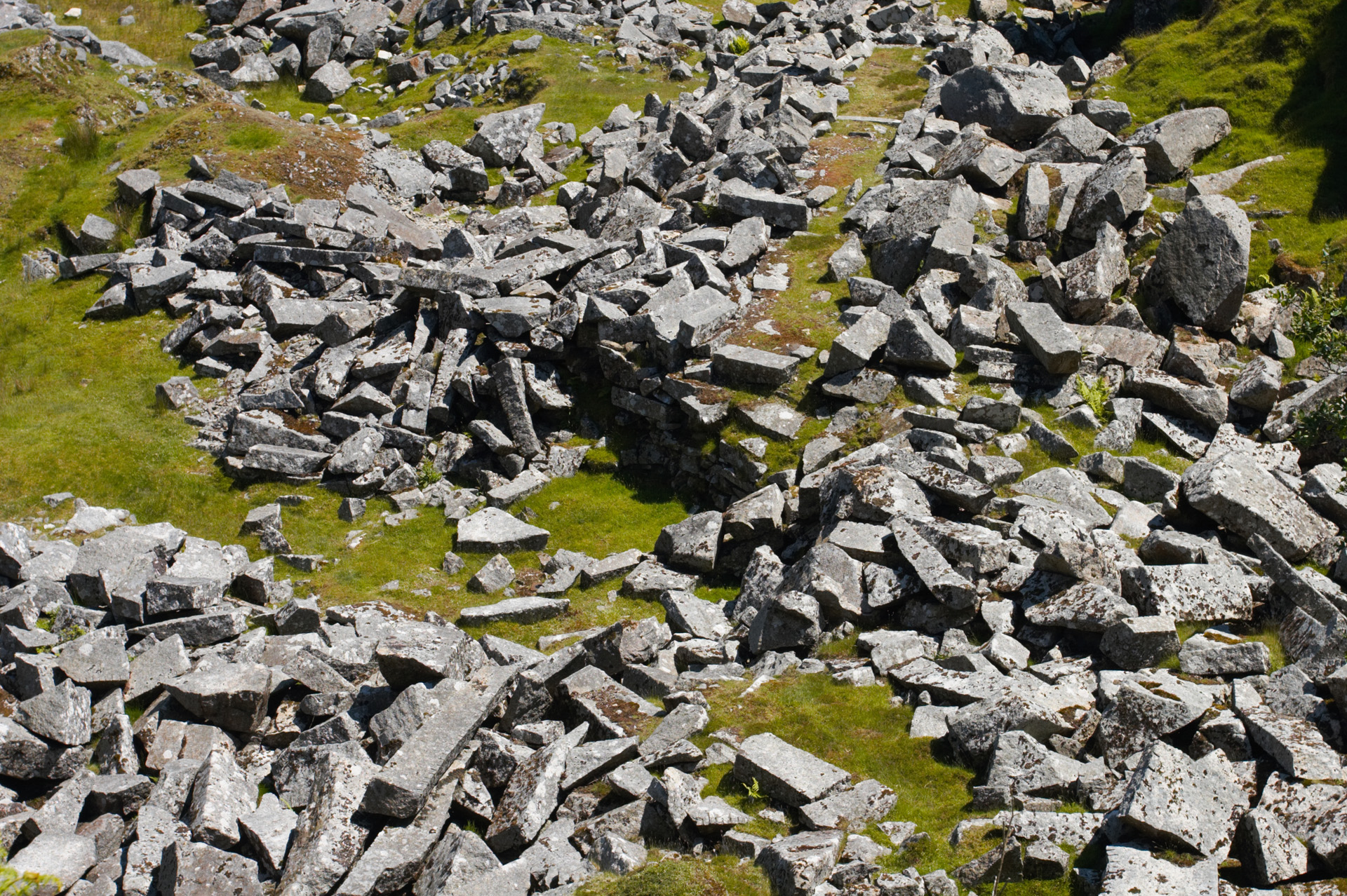 Shattered Granite Rocks at Cheesewring Quarry, Bodmin Moor