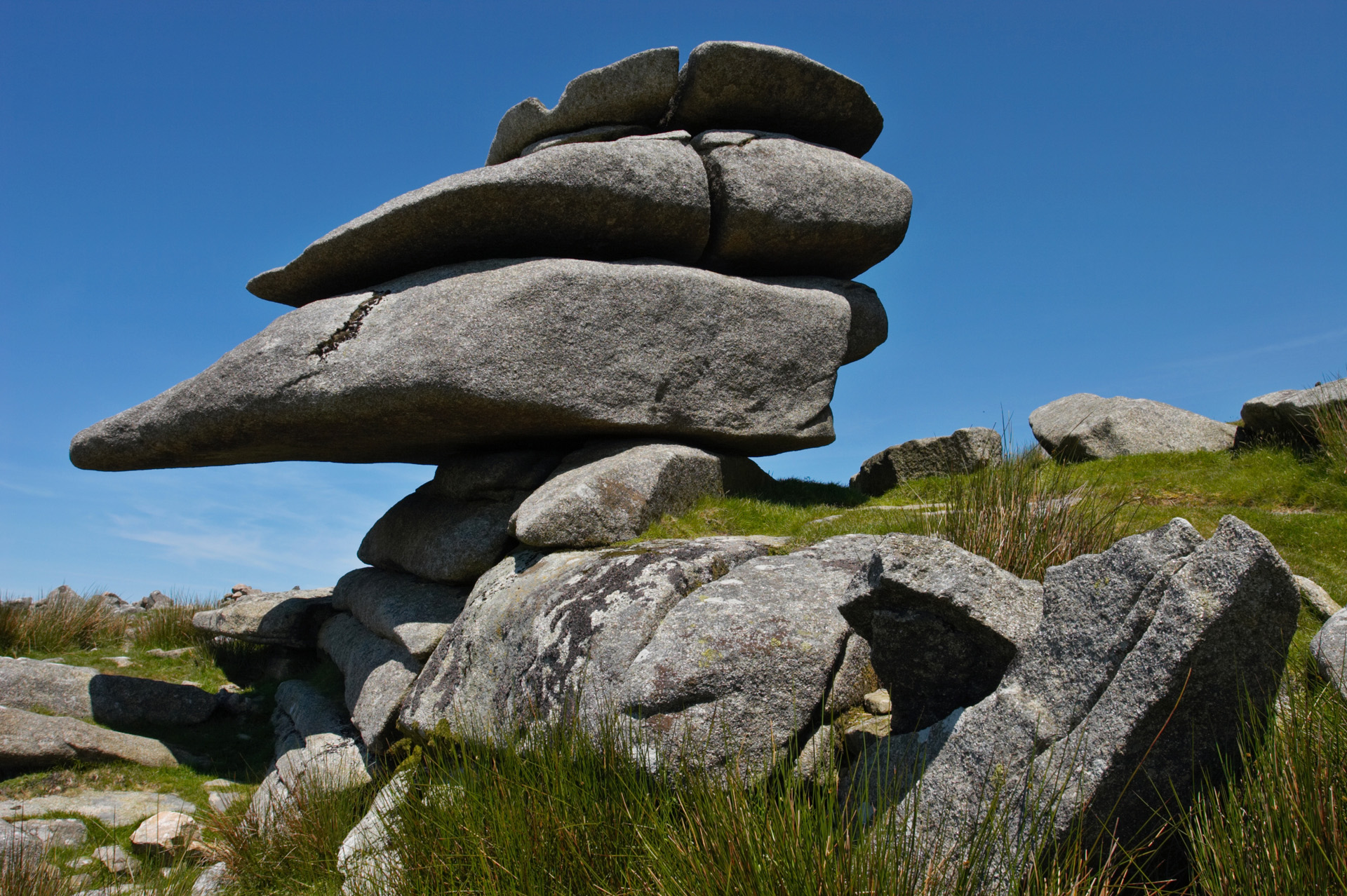 Tor at Cheesewring Quarry, Bodmin Moor, Cornwall