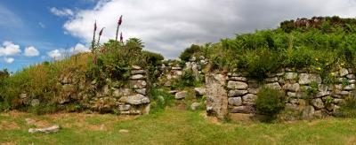 Walls at Chysauster Ancient Village, Penwith, Cornwall