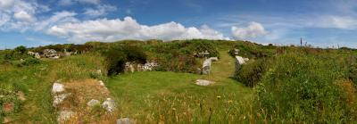 Chysauster Ancient Village, Penwith, Cornwall