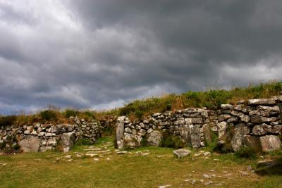 Storming The Walls, Chysauster Ancient Village, Cornwall