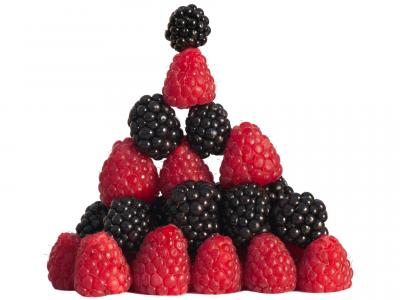 Blackberry Raspberry Pyramid Stack