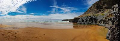 Bedruthan Steps Beach Panorama