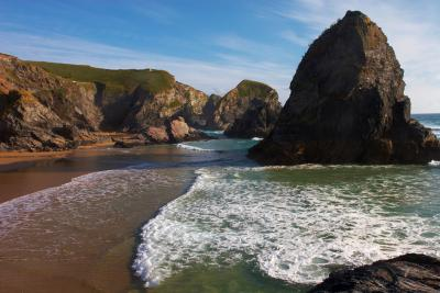 Incoming Tide at Bedruthan Steps, Cornwall