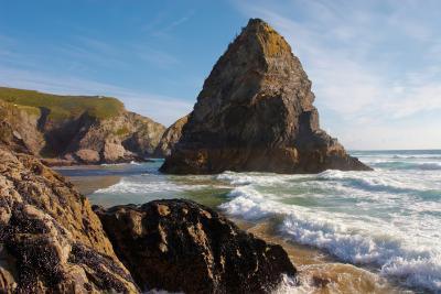 Bedruthan Steps Rock Stack In The Waves