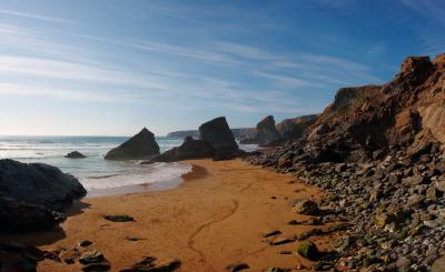 Bedruthan Steps Panorama