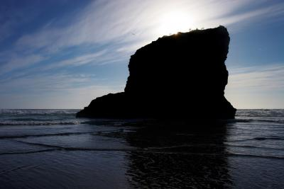 The Sun Sinks Down At Bedruthan Steps