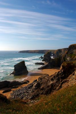 Bedruthan Steps From The Cliffs