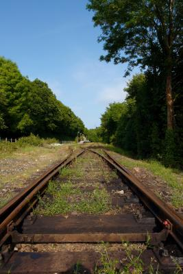 Old train tracks at Boscarne Junction, near Bodmin