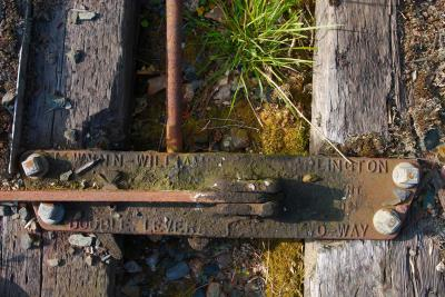 Old abandoned railway sleepers