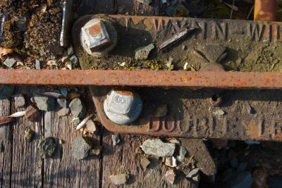 Old abandoned railway sleeper