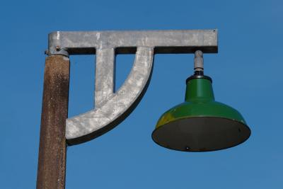 Boscarne Junction railway station lamp