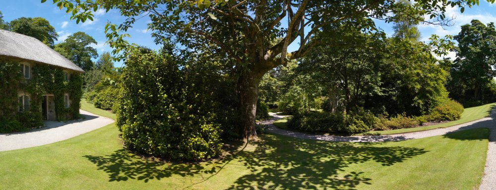 Lanhydrock Higher Garden Panorama