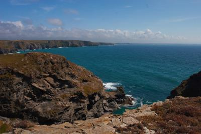 Porth Mear on the North Cornwall Coast, with Trescore Islands be