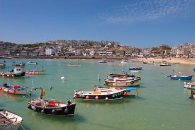 St Ives From The Harbour Wall