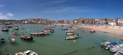 St Ives Panoramal From The Harbour Wall
