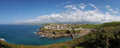 Port Isaac From The Cliffs Panorama