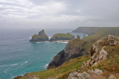 Kynance Cove, Lizard Peninsula, from the cliffs