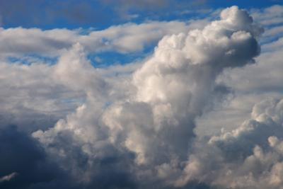 Summer cumulo-nimbus clouds building