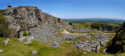 Cheesewring Quarry Panorama, Bodmin Moor, Cornwall