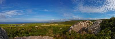 Evening On Rosewall Hill near St Ives, Panoramic View