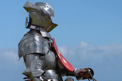 Jousting Knight Stock