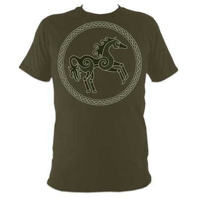 Runic Horse Olive T-Shirt