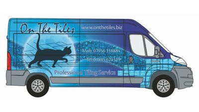 On The Tiles Van Wrap
